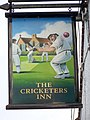 Sign for the Cricketers, Kingsley - geograph.org.uk - 1576579.jpg