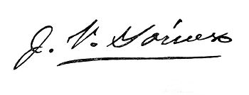 Signature of Juan Vicente G%C3%B3mez