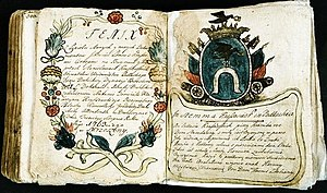 Ślepowron coat of arms - Diary of the Krassowski h. Ślepowron family from Drohicka Land in Podlaskie, 1763