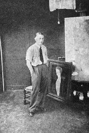 Josef Šíma - Josef Šíma in his studio in Paris, ca 1929.