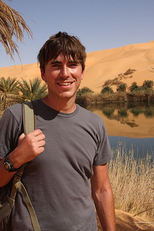 Simon Reeve (British TV presenter) - Simon Reeve in Libya travelling around the Tropic of Cancer