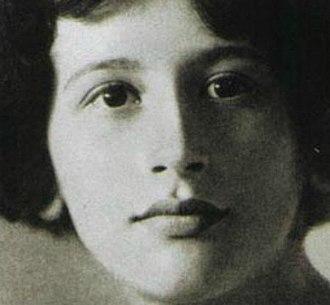Simone Weil - Weil in 1921
