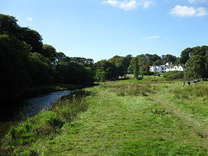 Simonsbath House - Setting of Simonsbath House in the valley of the River Barle, looking upstream