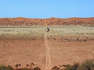 Simpson Desert - Track through the Simpson Desert