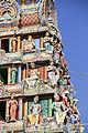 Singapore. Sri Mariamman. Gopuram. Nord West-2.JPG