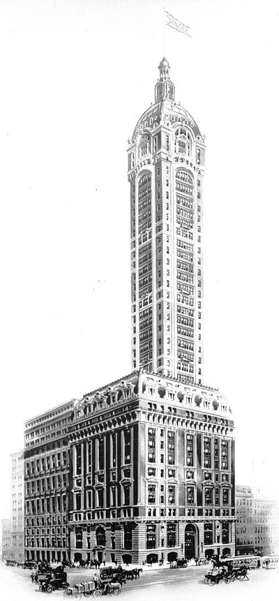 August 22, 1967: The Singer Building, formerly the world's tallest, to be demolished SingerBuilding crop.jpg