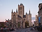 Sint-Niklaaskerk and the belfry of Ghent (DSCF0229).jpg