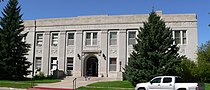 Sioux County, Nebraska courthouse from E.JPG
