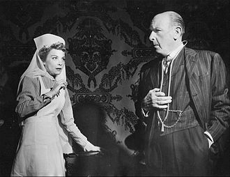 "Climax! - Joan Tetzel and Sir Cedric Hardwicke in ""Strange Death at Burnleigh"" (1957)"