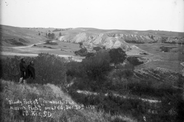 Site of Drexel Mission Fight Pine Ridge Indian Reservation-1890