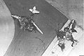 Six Day War. Egyptian air force base attacked. Egyptian planes destroyed on the ground. June 1967. D326-011.jpg