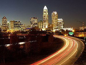 U.S. Route 74 - Image: Skyline of Charlotte, North Carolina (2008)