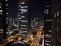 Skyscrapers in Nishi-Shinjuku at night - Shinjuku Mitsui Building, Shinjuku Sumitomo Building - view from Hyatt Regency Tokyo Building (2016-05-18 by panayota @Pixabay 2190035).jpg