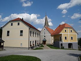 Slivnica pri Celju - parish church and rectory.jpg