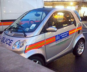 Smart electric drive - A Smart ED Police Car in central London.