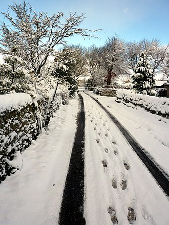 Winter of 2010–11 in Great Britain and Ireland - Snow in Northumberland on 25 November
