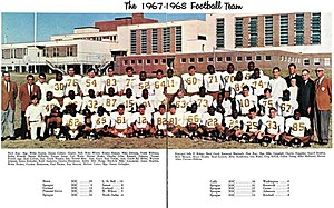 South Oak Cliff High School - This picture of the 1967-1968 SOC football team illustrates the school's changing demographics