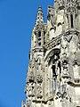 Soissons (02), abbaye Saint-Jean-des-Vignes, abbatiale, tour nord, étage de beffroi, vue depuis le sud-ouest.jpg