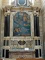 Soissons (02), cathédrale, collatéral sud du chœur, 1ère chapelle, autel et retable de saint Sébastien 2.jpg