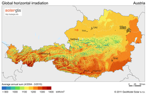 Solar power in Austria - Solar potential