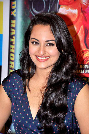 Sonakshi Sinha - Sinha at DVD launch of Rowdy Rathore in 2012.