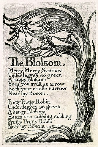 The Blossom - Image: Songs of Innocence, copy U, 1789 (The Houghton Library) object 8 The Blossom