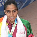 Sonia Aktar (BANGLADESH) won Bronze Medal, in the Women's swimming 200m Butterfly category, at the 12th South Asian Games-2016, in Guwahati (cropped).jpg