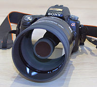 Sony Alpha 55 with Minolta 500 F8 Reflex.JPG