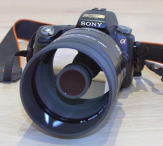 Catadioptric system - Image: Sony Alpha 55 with Minolta 500 F8 Reflex