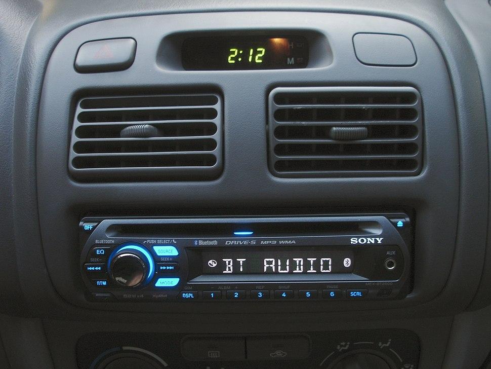 Sony MEX-BT2500 Xplod Bluetooth stereo head unit illuminated.jpeg