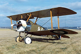 Biplane - Reproduction of a Sopwith F.1 Camel biplane.