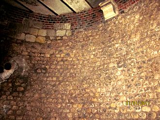 Tours Amphitheatre - Interior view of a support tower for the north vomitorium.