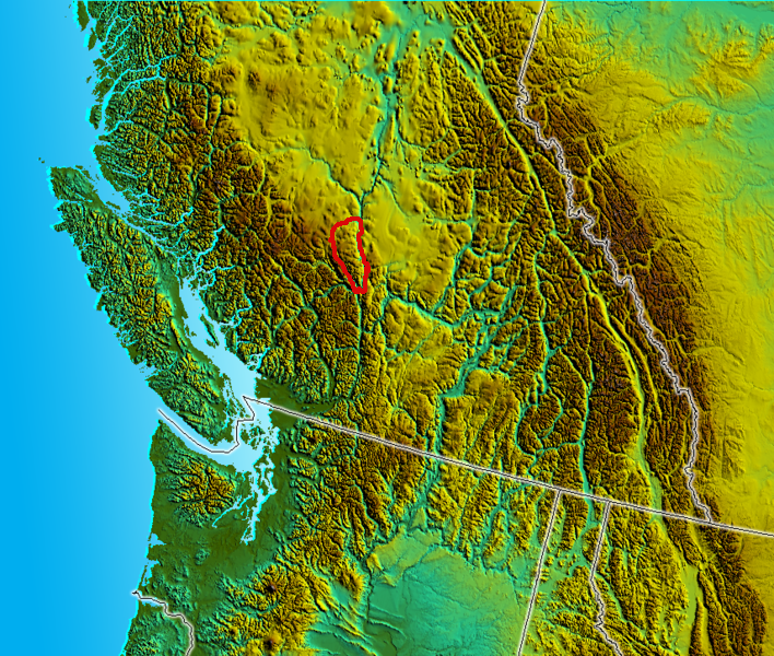 South BC-NW USA-relief CamelsfootRange