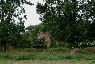 South Ockendon Windmill - The remains of the mill base, August 2005