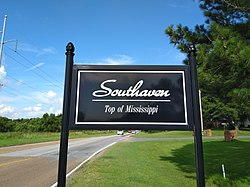 Southaven Top Of Mississippi sign.jpg