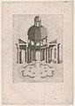 Speculum Romanae Magnificentiae- Interior and ground plan of an ogtagonal temple MET DP870356.jpg