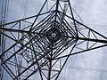 Split in Power (Carr Lane transmission splitting Pylon) - geograph.org.uk - 1225212.jpg