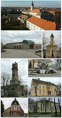 Photomontage of Sremska Mitrovica