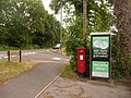 St. Ives, postbox No. BH24 3 and phone, Ringwood Road - geograph.org.uk - 1345393.jpg