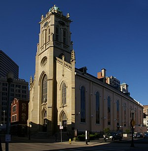 St. Francis Xavier Church (Cincinnati, Ohio) - Front and side of the church