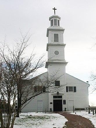 St. John's Episcopal Church (Richmond, Virginia) - St. John's Episcopal Church in Richmond, Virginia on a winter day