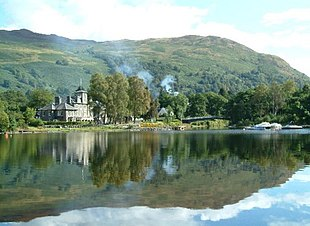 """St Fillans, from the southern bank of <a href=""""http://search.lycos.com/web/?_z=0&q=%22Loch%20Earn%22"""">Loch Earn</a>"""
