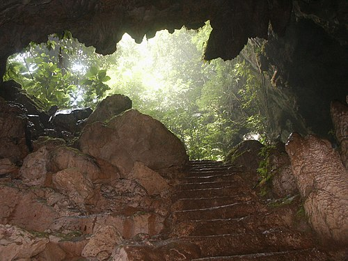 St. Herman's Cave in St. Herman's Blue Hole National Park. St Hermans Cave Belize.jpg
