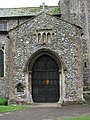 St James' church - north porch with holy water stoup - geograph.org.uk - 868332.jpg