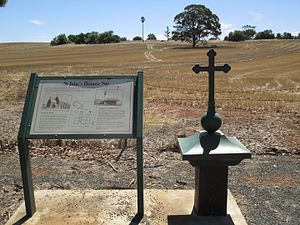 St Johns, South Australia - View towards the former church and reformatory from the cemetery