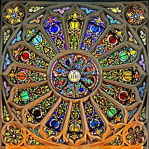 St Katharine Cree - 17th century rose window
