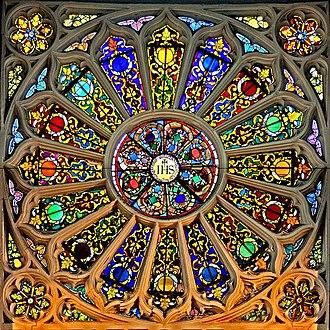 St Katharine Cree - 17th century rose window