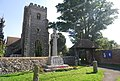 St Mary's Church and war memorial, Chartham - geograph.org.uk - 984042.jpg