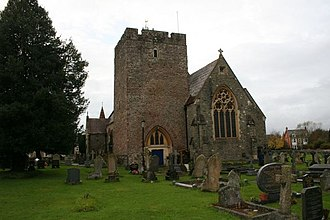 Buellt - St Mary's in Builth Wells, retaining its 14th-century tower