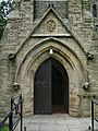 St Mary of the Angels Catholic Church, Bolton-le-Sands, Doorway - geograph.org.uk - 837031.jpg